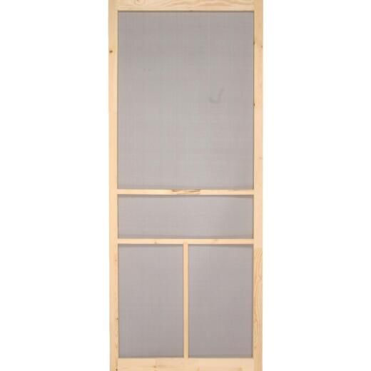 Snavely Kimberly Bay 32 In. W. x 80 In. H. x 1 In. Thick Natural Fingerjoint Pine Wood T-Bar Screen Door