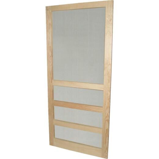 Snavely 36 In. W. x 80 In. H. x 1-1/8 In. Thick Natural Solid Pine Wood Heavy-Duty Screen Door