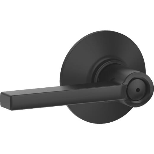 Schlage Latitude Matte Black Privacy Door Lever