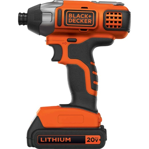 Black & Decker 20 Volt MAX Lithium-Ion 1/4 In. Hex Cordless Impact Driver Kit