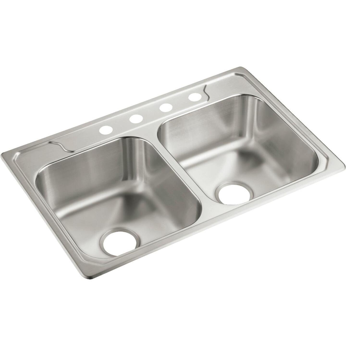 Sterling Middleton Double Bowl Sink 7 In. Deep Stainless Steel Image 1