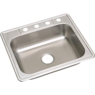 Elkay Single Bowl Sink 6 In. Deep Stainless Steel