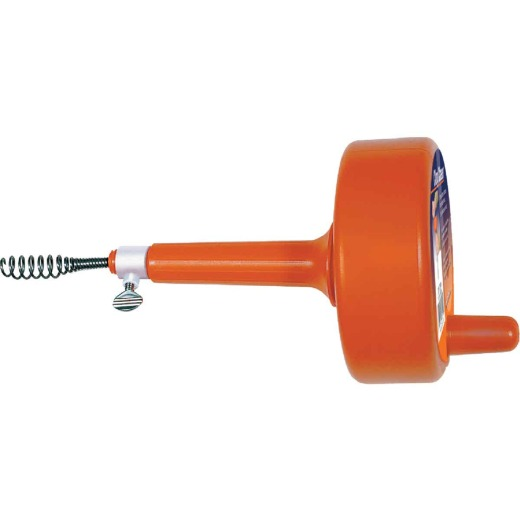 General Wire 1/4 In. x 15 Ft. Plastic Drum Drain Auger