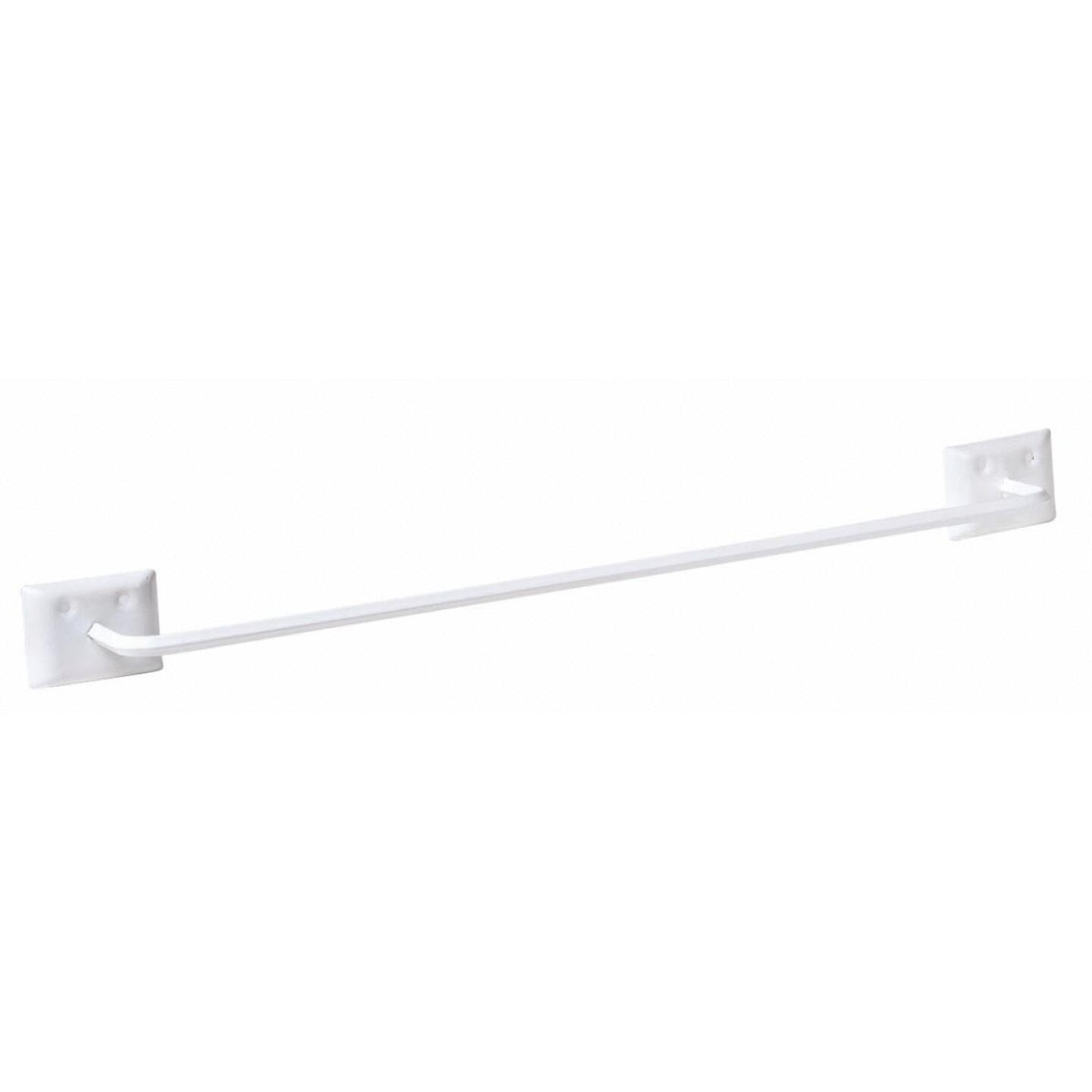 Decko Diamond Bar Design 18 In. White Towel Bar Image 1