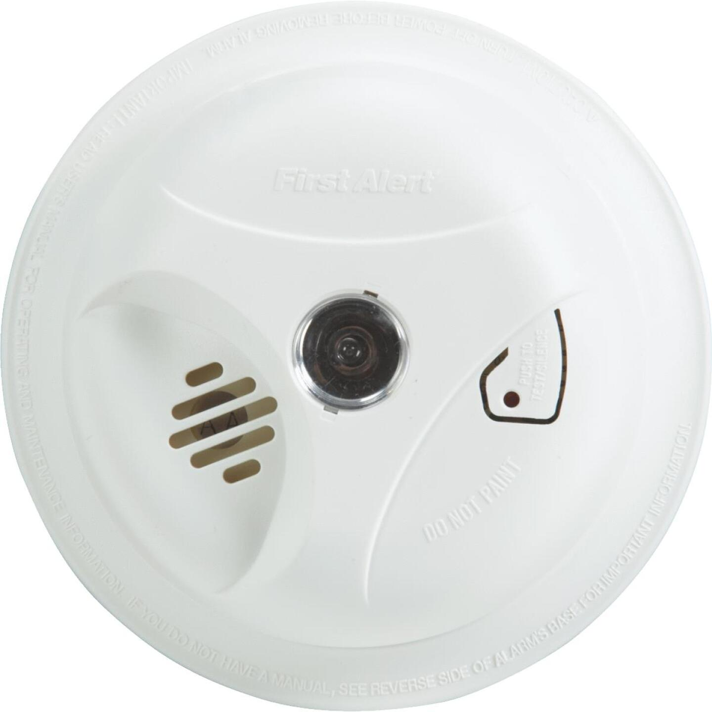 First Alert Battery Operated 9V Ionization Smoke Alarm with Light Image 1