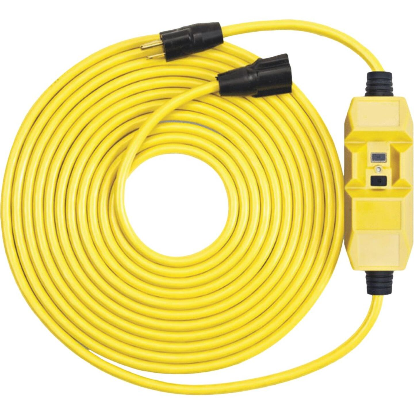 Southwire 50 Ft. 12/3 Heavy-Duty GFCI In-Line Extension Cord Image 1