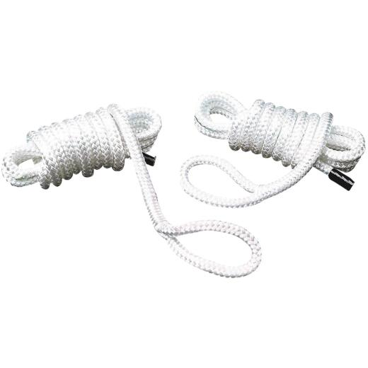 Seachoice 1/4 In. x 6 Ft. Double Braided Nylon Fender Line, White (2-Pack)