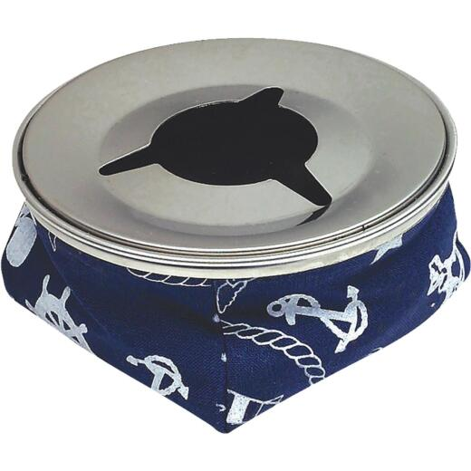Seachoice 4-1/8 In. Blue Stainless Steel Windproof Ashtray