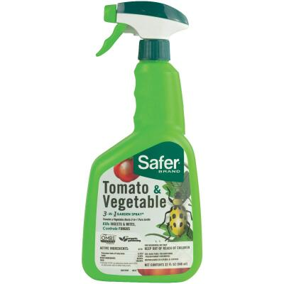 Safer 3-In-1 32 Oz. Ready To Use Trigger Spray Tomato & Vegetable Insect Killer