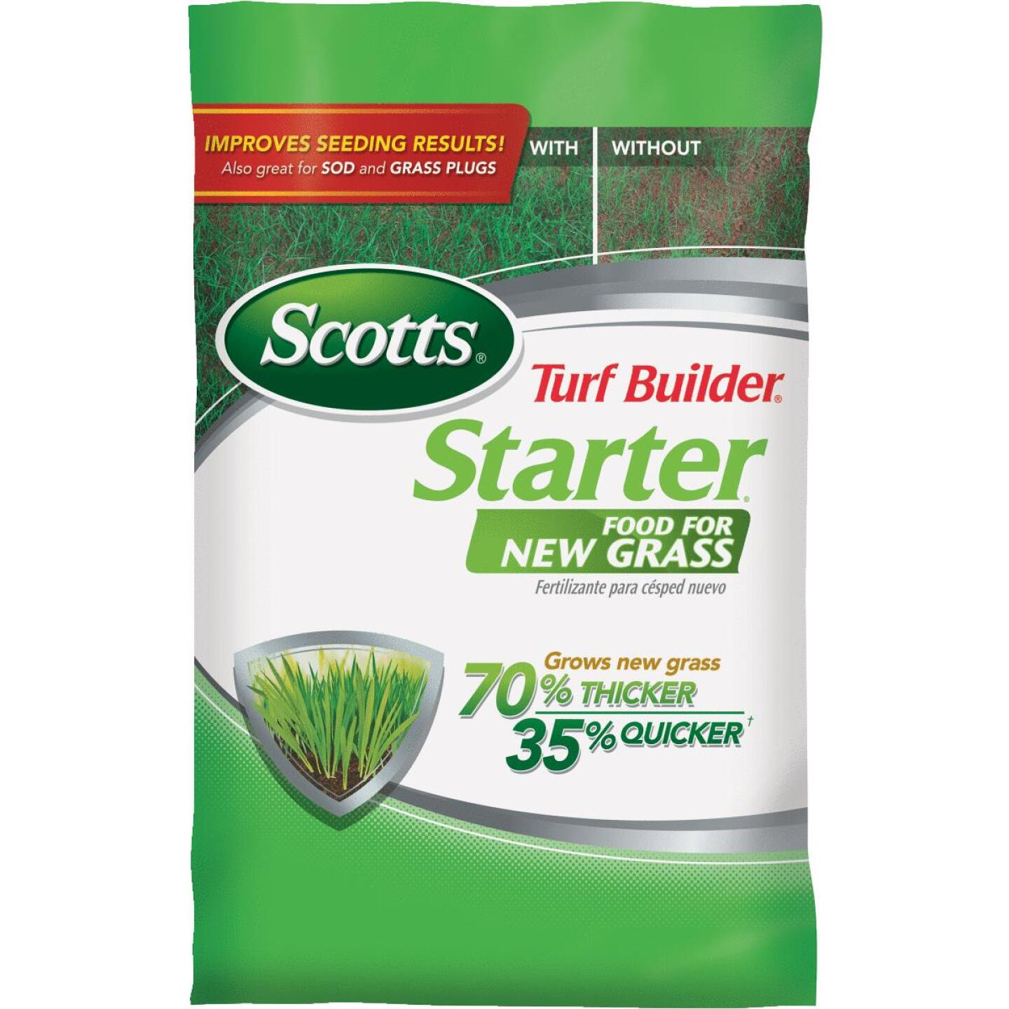 Scotts Turf Builder 3 Lb. 1000 Sq. Ft. 24-25-4 Starter Fertilizer For New Lawns Image 1