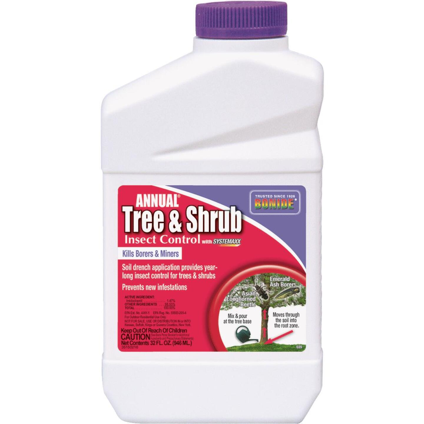 Bonide 32 Oz. Concentrate Tree & Shrub Insect Killer Image 1