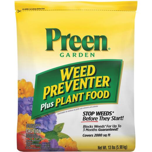 Preen Grass & Weed Preventer Plus Plant Food, 13 Lb.