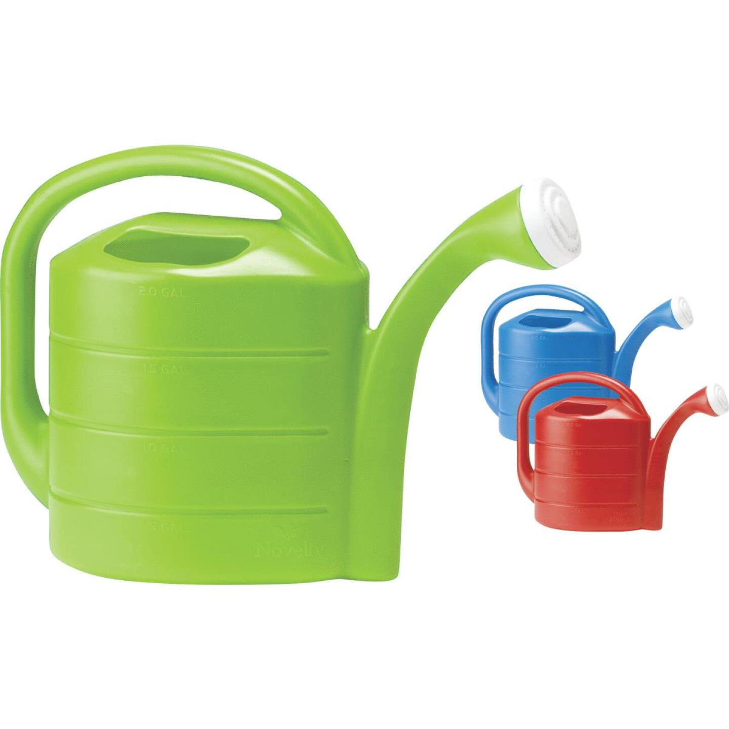Novelty 2 Gal. Red, Blue, or Green Poly Watering Can Image 1