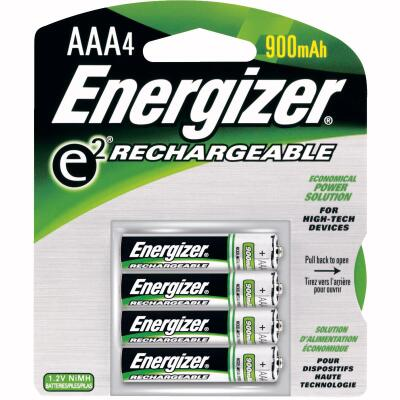 Energizer Recharge AAA NiMH Rechargeable Battery (4-Pack)