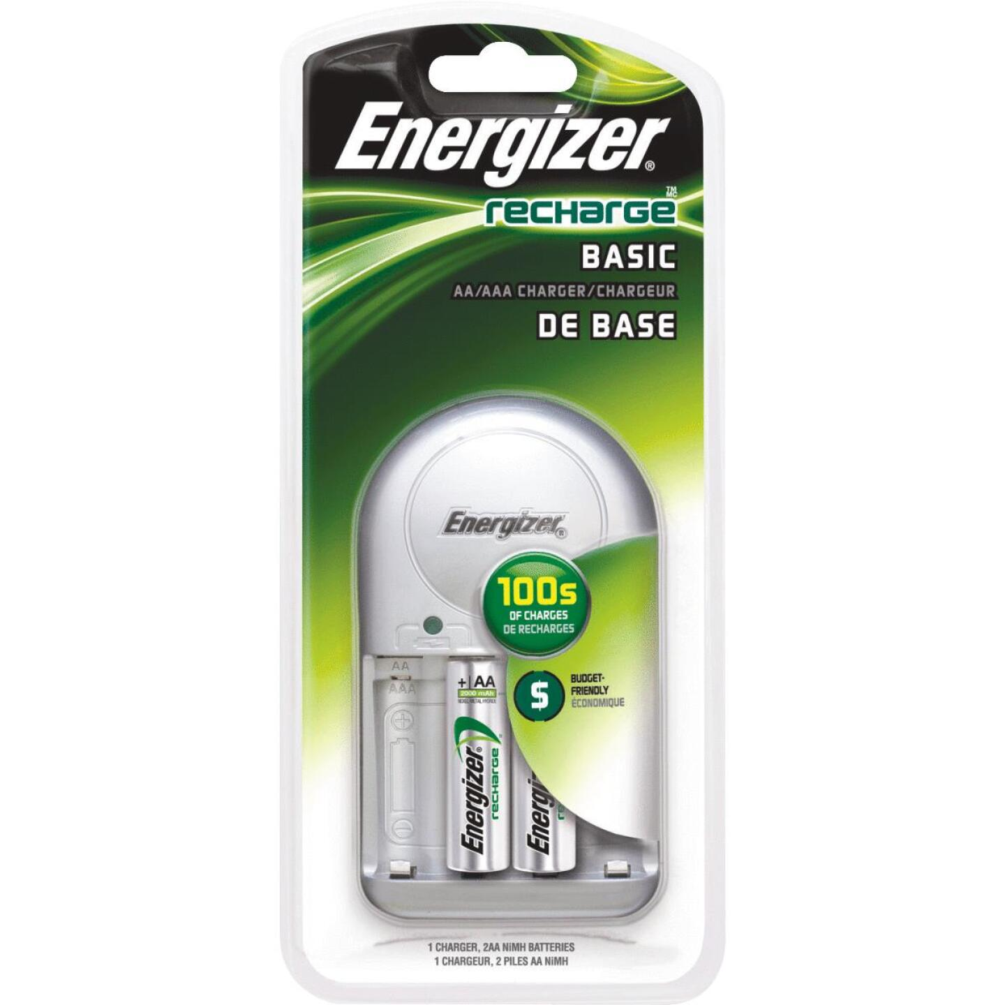 Energizer Recharge (2) or (4) AA, or AAA NiMH Value Battery Charger Image 1