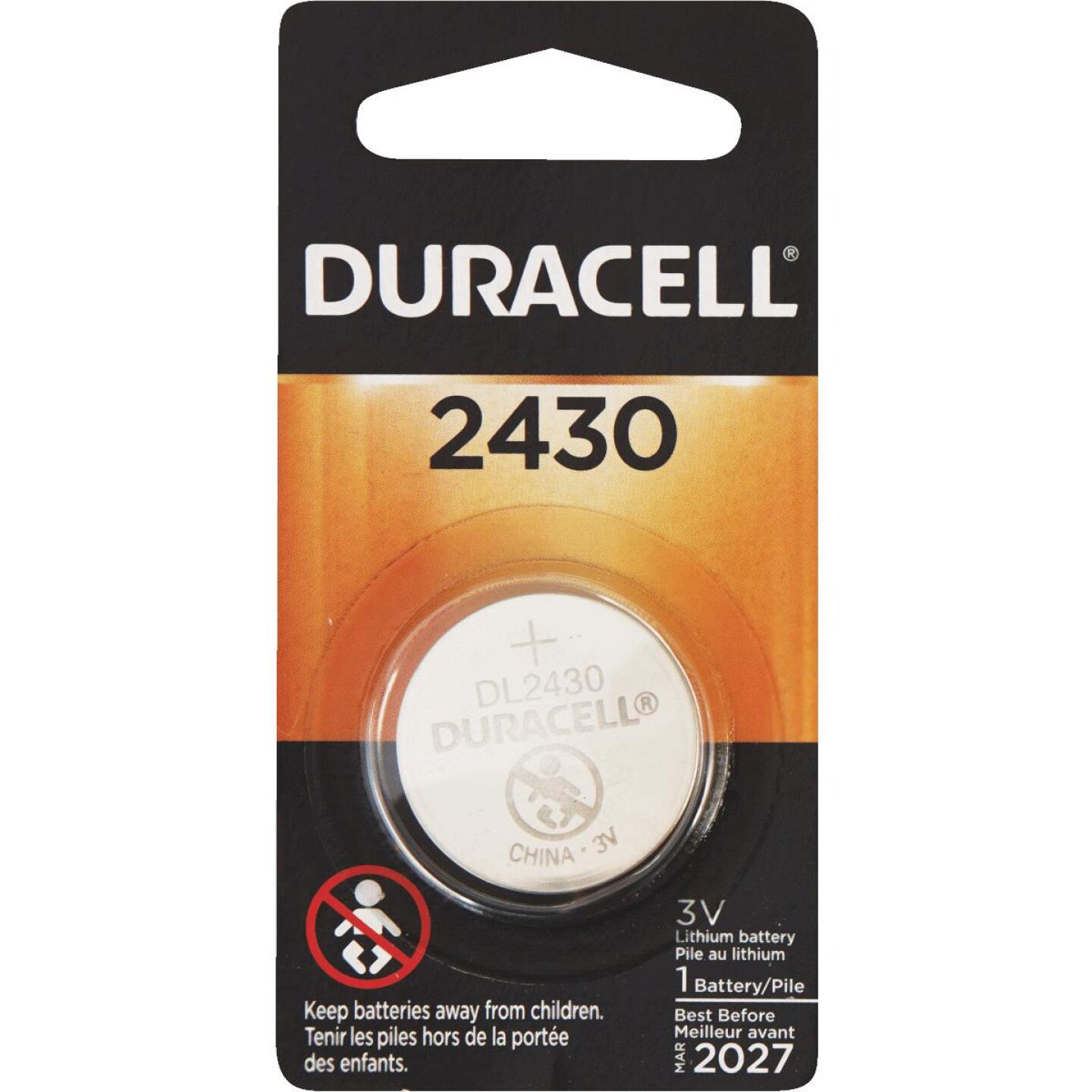 Duracell 2430 Lithium Coin Cell Battery Image 1
