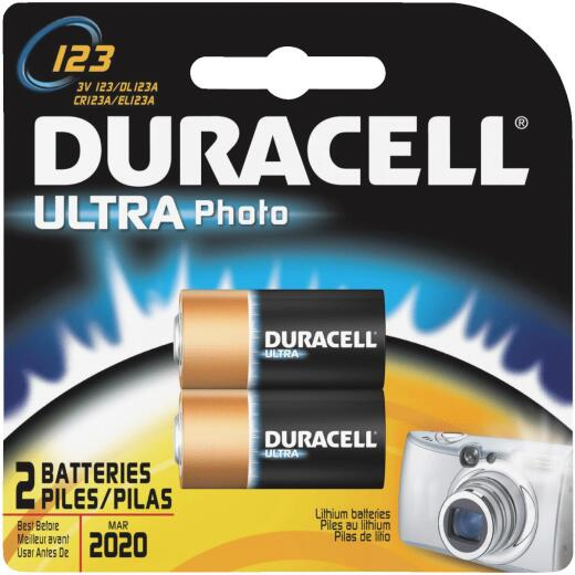 Duracell 123 Ultra Lithium Battery (2-Pack)